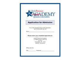 a shot of the Academy application